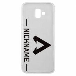 Чехол для Samsung J6 Plus 2018 Your NickName English only