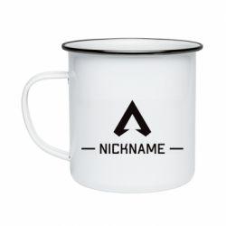 Кружка эмалированная Your NickName English only