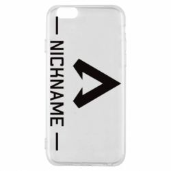 Чехол для iPhone 6/6S Your NickName English only