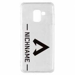 Чехол для Samsung A8 2018 Your NickName English only