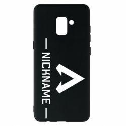 Чехол для Samsung A8+ 2018 Your NickName English only