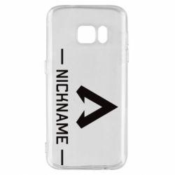Чехол для Samsung S7 Your NickName English only