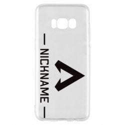 Чехол для Samsung S8 Your NickName English only