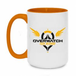 Кружка двухцветная 420ml Your Nickname in the game Overwatch