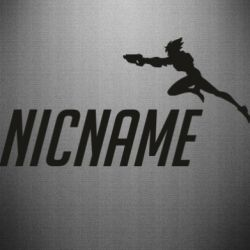 Наклейка Your Nickname Overwatch and jump Tracer