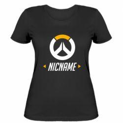Женская футболка Your Nickname Overwatch