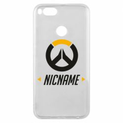 Чехол для Xiaomi Mi A1 Your Nickname Overwatch