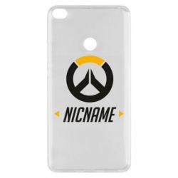 Чехол для Xiaomi Mi Max 2 Your Nickname Overwatch