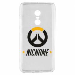 Чехол для Xiaomi Redmi Note 4 Your Nickname Overwatch