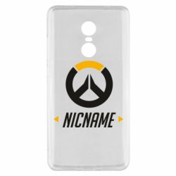 Чехол для Xiaomi Redmi Note 4x Your Nickname Overwatch