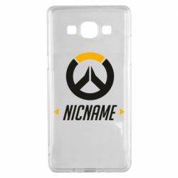 Чехол для Samsung A5 2015 Your Nickname Overwatch
