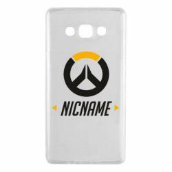 Чехол для Samsung A7 2015 Your Nickname Overwatch