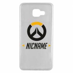 Чехол для Samsung A7 2016 Your Nickname Overwatch