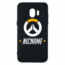Чехол для Samsung J2 2018 Your Nickname Overwatch
