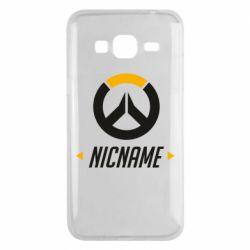 Чехол для Samsung J3 2016 Your Nickname Overwatch