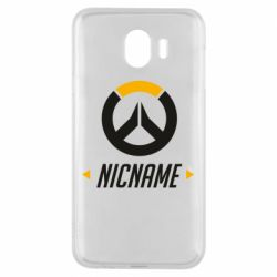 Чехол для Samsung J4 Your Nickname Overwatch