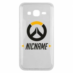 Чехол для Samsung J5 2015 Your Nickname Overwatch