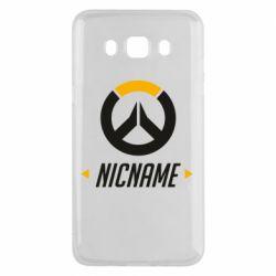 Чехол для Samsung J5 2016 Your Nickname Overwatch
