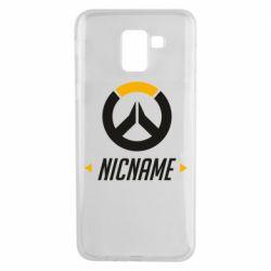 Чехол для Samsung J6 Your Nickname Overwatch