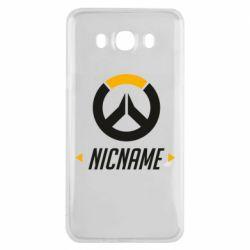 Чехол для Samsung J7 2016 Your Nickname Overwatch