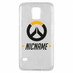Чехол для Samsung S5 Your Nickname Overwatch
