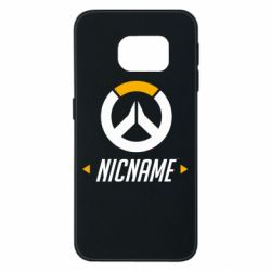 Чехол для Samsung S6 EDGE Your Nickname Overwatch