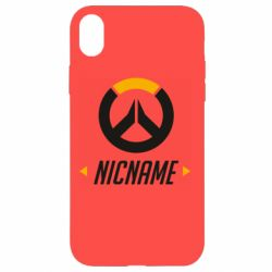 Чехол для iPhone XR Your Nickname Overwatch