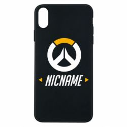 Чехол для iPhone Xs Max Your Nickname Overwatch