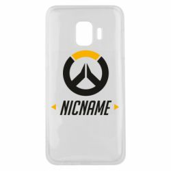 Чехол для Samsung J2 Core Your Nickname Overwatch