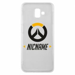 Чехол для Samsung J6 Plus 2018 Your Nickname Overwatch