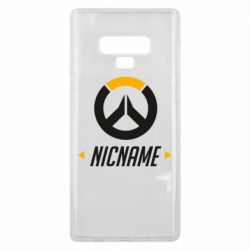 Чехол для Samsung Note 9 Your Nickname Overwatch