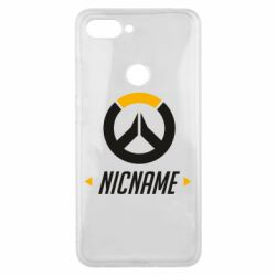 Чехол для Xiaomi Mi8 Lite Your Nickname Overwatch