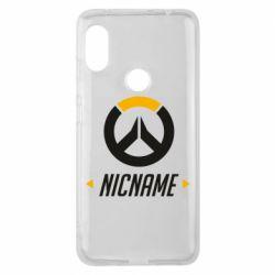 Чехол для Xiaomi Redmi Note 6 Pro Your Nickname Overwatch