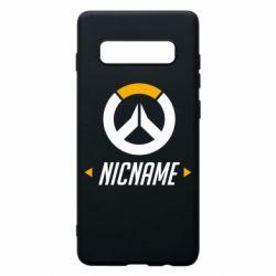 Чехол для Samsung S10+ Your Nickname Overwatch