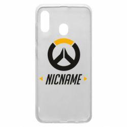 Чехол для Samsung A20 Your Nickname Overwatch