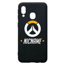 Чехол для Samsung A40 Your Nickname Overwatch