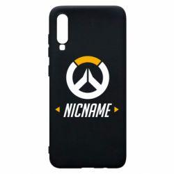 Чехол для Samsung A70 Your Nickname Overwatch