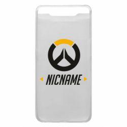 Чехол для Samsung A80 Your Nickname Overwatch