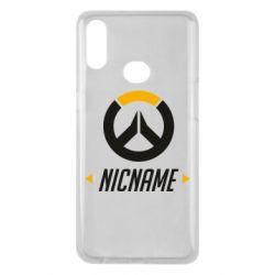 Чехол для Samsung A10s Your Nickname Overwatch