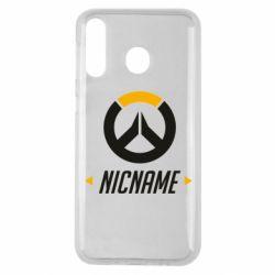 Чехол для Samsung M30 Your Nickname Overwatch