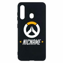 Чехол для Samsung M40 Your Nickname Overwatch