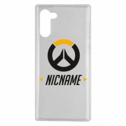 Чехол для Samsung Note 10 Your Nickname Overwatch