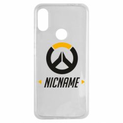 Чехол для Xiaomi Redmi Note 7 Your Nickname Overwatch