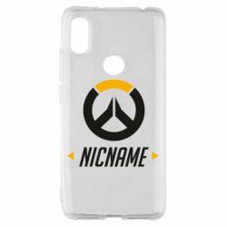Чехол для Xiaomi Redmi S2 Your Nickname Overwatch