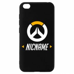 Чехол для Xiaomi Redmi Go Your Nickname Overwatch