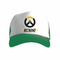 Детская кепка-тракер Your Nickname Overwatch