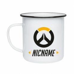 Кружка эмалированная Your Nickname Overwatch