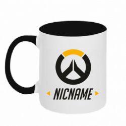 Кружка двухцветная 320ml Your Nickname Overwatch
