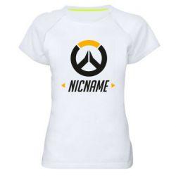 Женская спортивная футболка Your Nickname Overwatch
