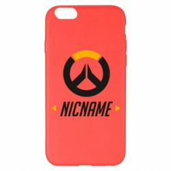 Чехол для iPhone 6 Plus/6S Plus Your Nickname Overwatch